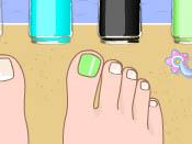 لعبة تلوين أظافر الأقدام