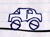 لعبة قيادة السيارة المرسومة